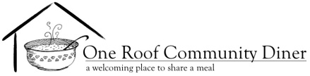 One Roof Community Diner is worthy of your support!