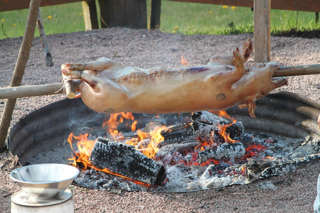 Chef Brian Henry offers Pig Roasts and other whole animal Roasting